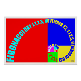 Fibonacci Day, 1,1,2,3, November 23 Poster