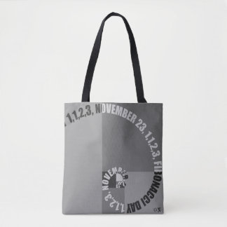 Fibonacci Day, 1,1,2,3, November 23 Tote Bag