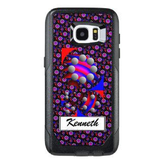 Fibonacci 'Fish Black' by Kenneth Yoncich OtterBox Samsung Galaxy S7 Edge Case
