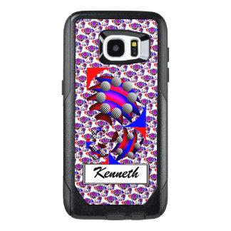 Fibonacci 'Fish Checker' by Kenneth Yoncich OtterBox Samsung Galaxy S7 Edge Case