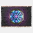 Fibonacci Flower Mandala Blanky Throw Blanket