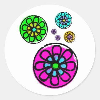 Fibonacci flower power adhésifs ronds