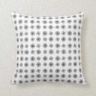 Fibonacci Flowers Pattern Throw Pillow