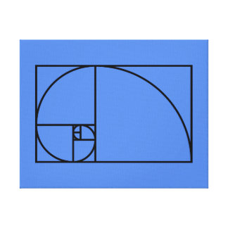Fibonacci golden ratio - unique mathematical art canvas print