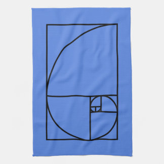 Fibonacci golden ratio - unique mathematical art kitchen towel