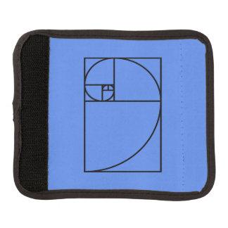Fibonacci golden ratio - unique mathematical art luggage handle wrap