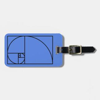 Fibonacci golden ratio - unique mathematical art luggage tag