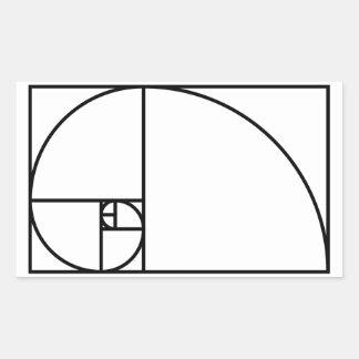 Fibonacci golden ratio - unique mathematical art sticker