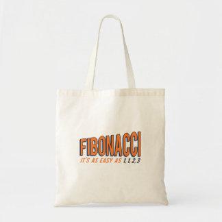 Fibonacci il est aussi facile que 1, 1, 2, 3 sac en toile budget