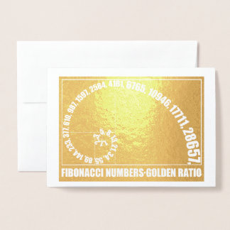 Fibonacci Numbers,  Golden Ratio Foil Card