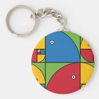 Fibonacci Parrots Keychain
