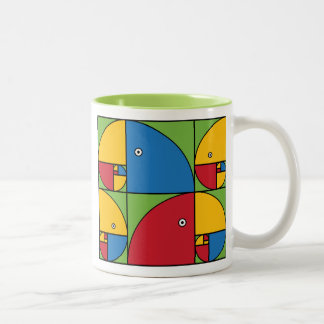 Fibonacci Parrots Two-Tone Coffee Mug