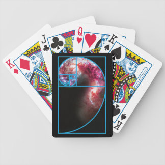 Fibonacci Spiral Galaxy Bicycle Playing Cards