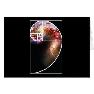 Fibonacci Spiral Galaxy Card