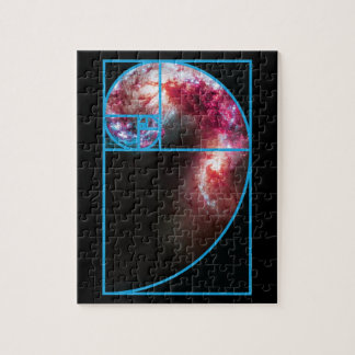 Fibonacci Spiral Galaxy Jigsaw Puzzle