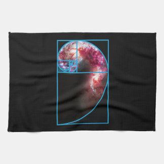 Fibonacci Spiral Galaxy Kitchen Towel