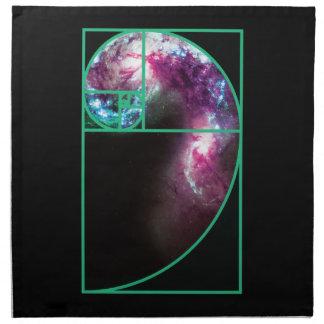 Fibonacci Spiral Galaxy Napkin