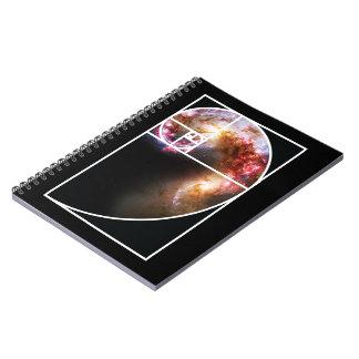 Fibonacci Spiral Galaxy Notebooks