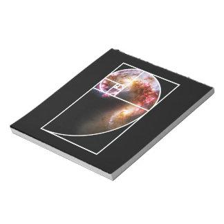 Fibonacci Spiral Galaxy Notepad
