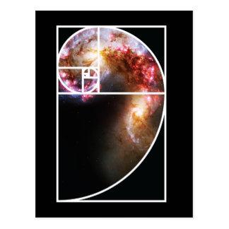 Fibonacci Spiral Galaxy Postcard