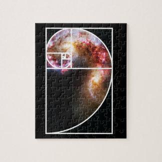 Fibonacci Spiral Galaxy Puzzle