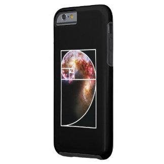 Fibonacci Spiral Galaxy Tough iPhone 6 Case