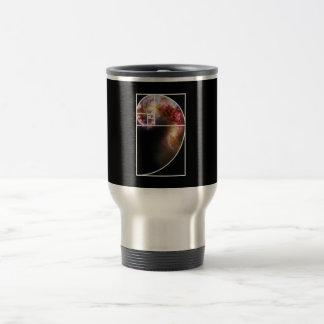 Fibonacci Spiral Galaxy Travel Mug