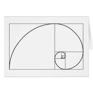 Fibonacci Spiral: Golden Ratio Card