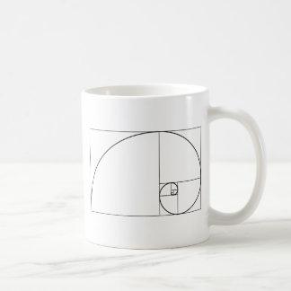 Fibonacci Spiral Golden Ratio Coffee Mug