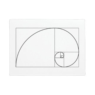 Fibonacci Spiral Golden Ratio Doormat