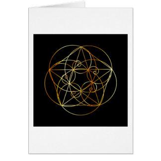 Fibonacci Spiral- The sacred geometry Card