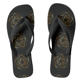 Fibonacci Spiral- The sacred geometry Flip Flops