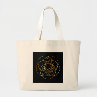 Fibonacci Spiral- The sacred geometry Large Tote Bag