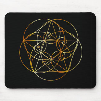 Fibonacci Spiral- The sacred geometry Mouse Pad