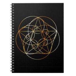 Fibonacci Spiral- The sacred geometry Notebooks
