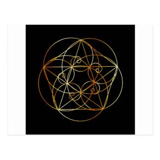 Fibonacci Spiral- The sacred geometry Postcard
