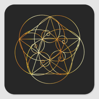 Fibonacci Spiral- The sacred geometry Square Sticker