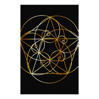 Fibonacci Spiral- The sacred geometry Stationery