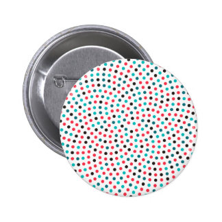 Fibonacci Sunflower Spiral - Melon 2 Inch Round Button
