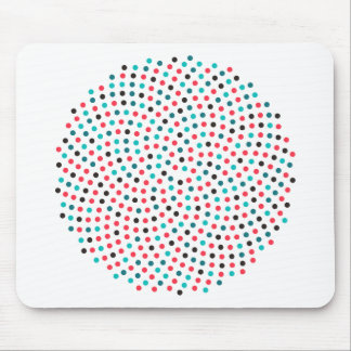 Fibonacci Sunflower Spiral - Melon Mouse Pad