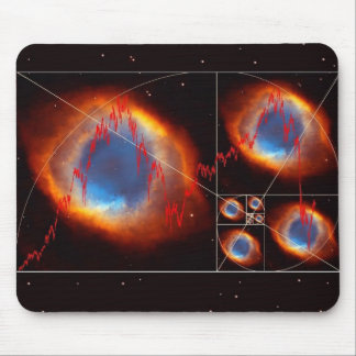 Fibonacci Universe Finance Stock Market Mouse Pad