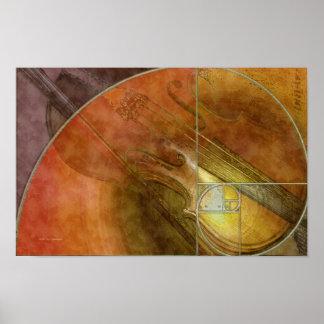 Fibonacci Violin Poster