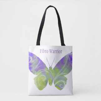 Fibro Butterfly Tote With Black Handles