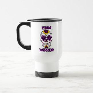 FIBRO WARRIOR  sugar skull Travel Mug