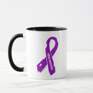 Fibro Warrior torn ribbon Mug
