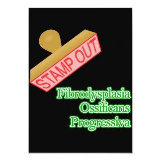 """Fibrodysplasia Ossificans Progressiva 5"""" X 7"""" Invitation Card"""
