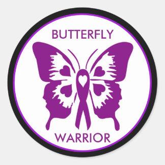 Fibrofairy Butterfly Warrior Round Sticker
