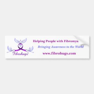 Fibromyalgia awareness bumper sticker
