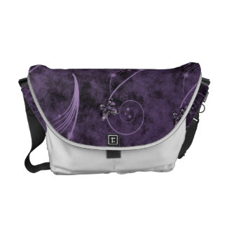 Fibromyalgia Awareness Graphic Design Rickshaw Bag Messenger Bag
