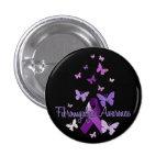 Fibromyalgia Awareness (ribbon & butterflies) 1 Inch Round Button